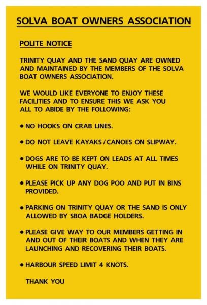 Quay signs